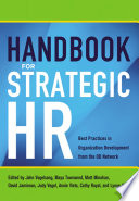 """""""Handbook for Strategic HR: Best Practices in Organization Development from the OD Network"""" by OD Network"""