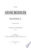 The Hahnemannian Monthly Book