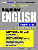 Preston Lee s Beginner English Lesson 1   60 For Hindi Speakers