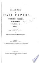 Calendar of State Papers  Domestic Series  of the Reign of Charles I      1635