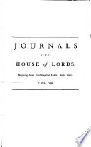 Journals of the House of Lords