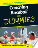 """Coaching Baseball For Dummies"" by The National Alliance For Youth Sports, Greg Bach"
