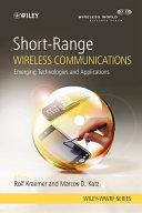 Short Range Wireless Communications Book