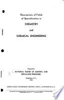 Descriptions of Fields of Specialization in Chemistry and Chemical Engineering Book