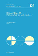 Fermat Days 85: Mathematics for Optimization