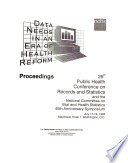 Proceedings of the     Public Health Conference on Records and Statistics Book