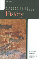 A Short Guide to Writing about History Book PDF