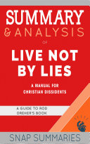 Summary & Analysis of Live Not By Lies Pdf