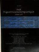 Draft Program Environmental Impact Report for the San Francisco Public Utilities Commission s Water System Improvement Program