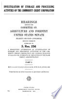 Investigation of Storage and Processing Activities of the Commodity Credit Corporation: Hearings, May 1-June 20, 1952. pp.1147-2389