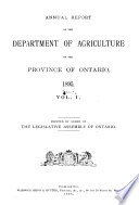 Annual Report of the Minister of Agriculture and Food
