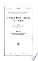 German Bank Inquiry of 1908