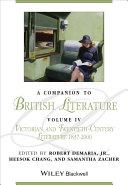 A Companion to British Literature  Volume 4