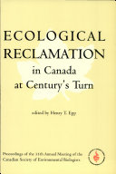 Pdf Ecological Reclamation in Canada at Century's Turn
