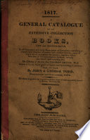 A General Catalogue Of An Extensive Collection Of Books New And Second Hand
