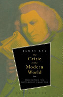 Pdf The Critic in the Modern World