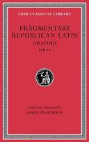 Fragmentary Republican Latin