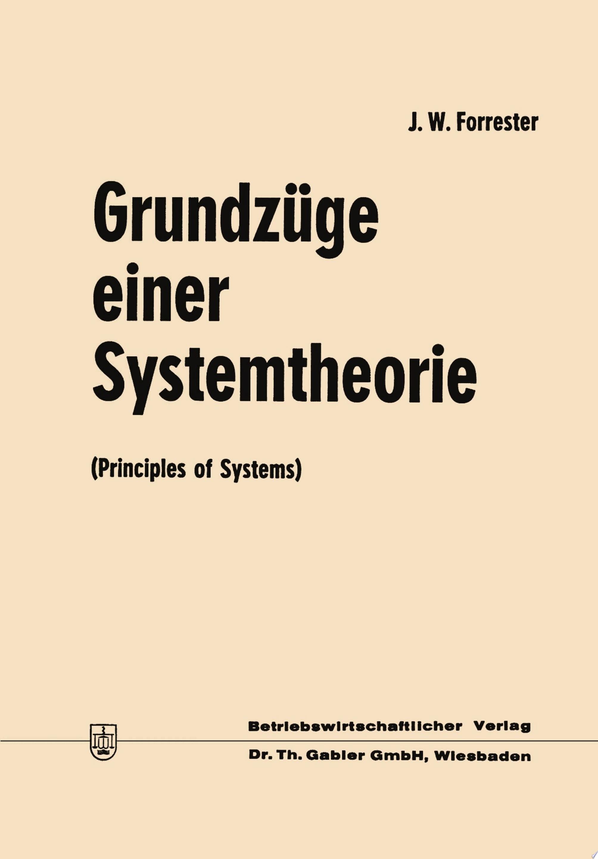 Grundz  ge einer Systemtheorie