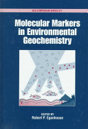 Molecular Markers In Environmental Geochemistry Book PDF