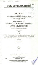 Natural Gas Utilization Act of 1987 Book PDF
