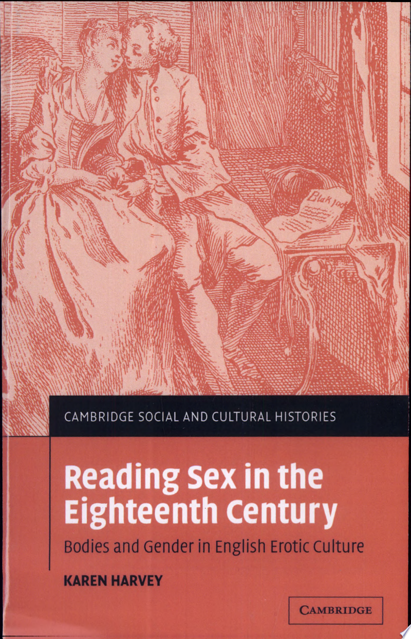 Reading Sex in the Eighteenth Century poster