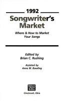 Songwriter s Market  1992 Book