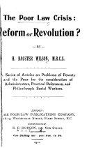 Poor Law Crisis  Reform Or Revolution