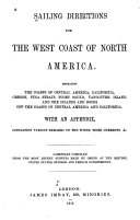 Sailing Directions for the West Coast of North America