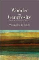 Wonder and Generosity
