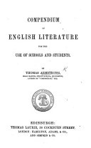 Compendium of English Literature for the use of schools and students