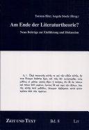 Am Ende der Literaturtheorie?