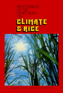Proceesings of the Symposium on Climate   Rice