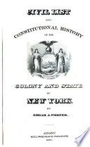 Civil List and Constitutional History of the Colony and State of New York Book