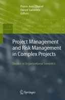 Pdf Project Management and Risk Management in Complex Projects