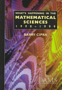 What S Happening In The Mathematical Sciences 1998 1999