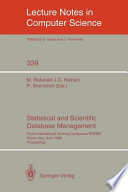 Statistical And Scientific Database Management Book PDF