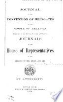Journal of the Convention of Delegates of the People of Arkansas Book