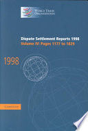 Dispute Settlement Reports 1998 Volume 4 Pages 1177 1829