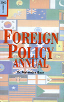 Foreign Policy Annual  2003  Vol  1  Events