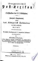 Das Königreich Dalmatien ... A - Z