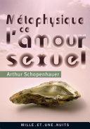 Pdf Métaphysique de l'amour sexuel Telecharger