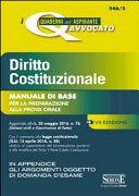 Diritto costituzionale. Manuale di base per la preparazione alla prova orale