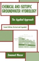 Chemical and Isotopic Groundwater Hydrology Book