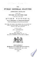 The Public General Statutes Affecting Scotland