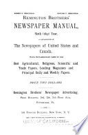 Remington Brothers' Newspaper Manual