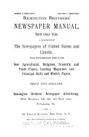 Remington Brothers  Newspaper Manual
