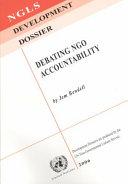 Debating NGO Accountability