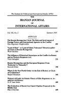 The Iranian Journal of International Affairs Book PDF