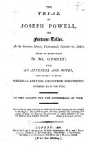 The Trial of Joseph Powell, the Fortune-teller