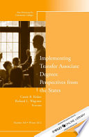 Implementing Transfer Associate Degrees  Perspectives From the States